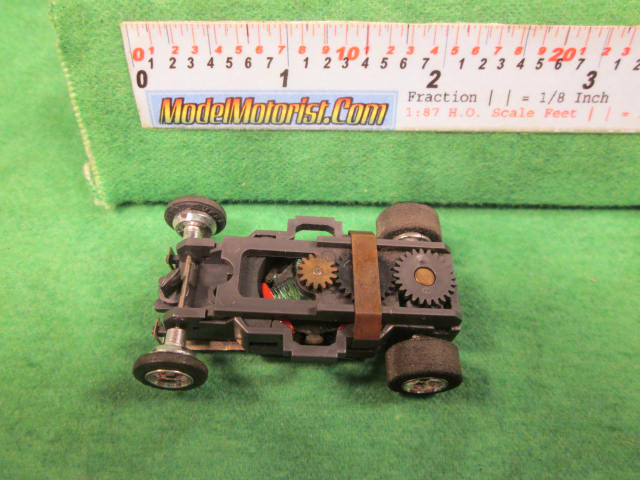 Top view of Aurora AFX 1970 Dated Slot Car Chassis (pre Magna-Traction)