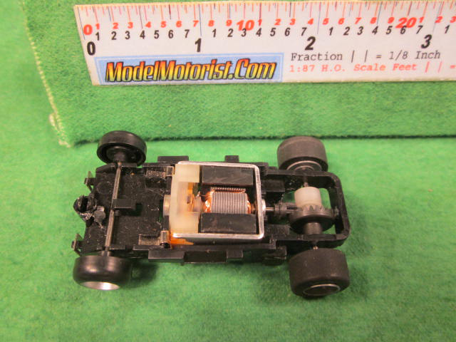 Top view of Majorette HO Slot Car Chassis