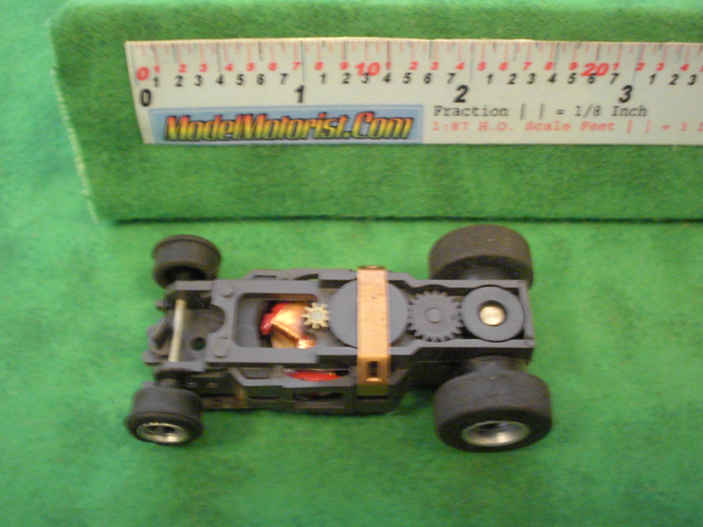 Top view of Aurora AFX Magna-Traction Specialty Slot Car Chassis