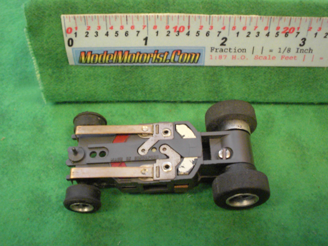 Bottom view of Aurora AFX Magna-Traction Specialty Slot Car Chassis