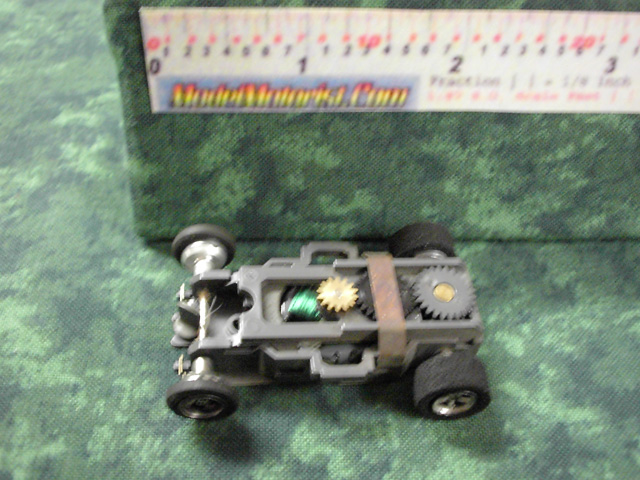 Top view of Aurora AFX 1971 Dated Slot Car Chassis (pre Magna-Traction)