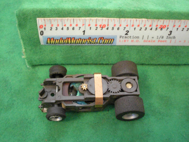 Top view of Aurora AFX Specialty Slot Car Chassis (pre Magna-Traction)