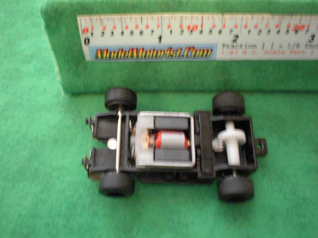 Top view of Artin HO Scale Slot Car Chassis