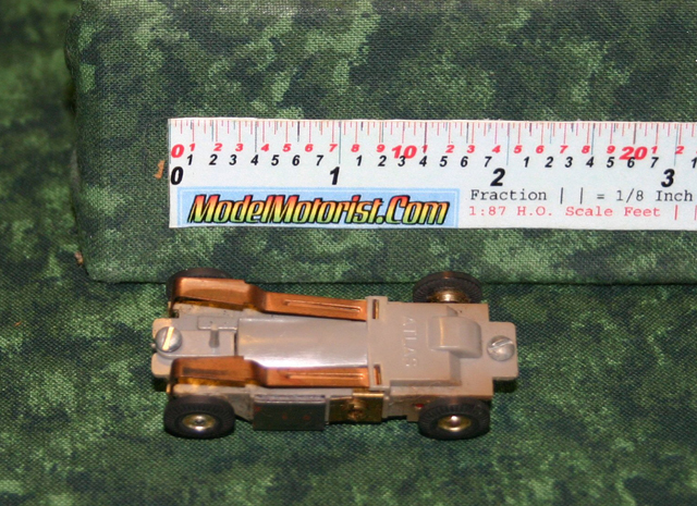 Exploded view of Atlas Slim Line / Panther HO Scale Slot Car Chassis