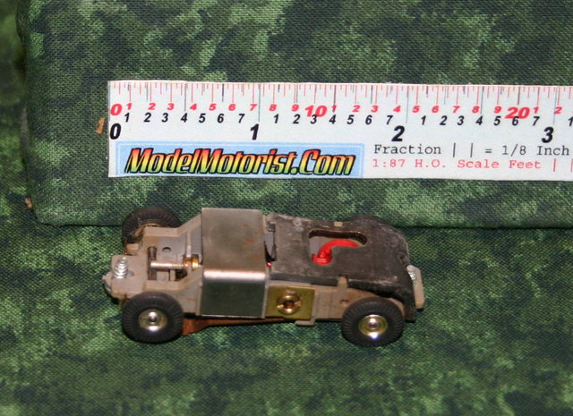 Top view of Atlas Slim Line / Panther HO Scale Slot Car Chassis