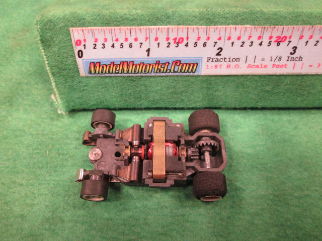 Top view of Aurora AFX G-Plus Wide Fixed Axle Slot Car Chassis