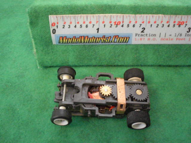 Top view of Aurora AFX Magna-Traction Slot Car Chassis