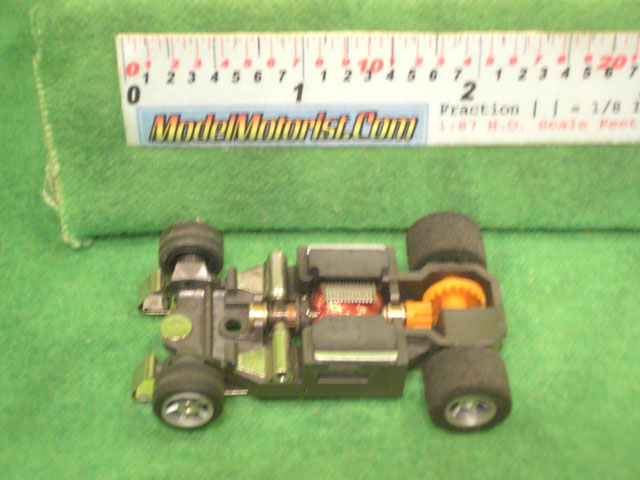 Top view of Aurora AFX Super G-Plus Slot Car Chassis