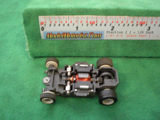 Top view of Aurora AFX SP-1000 Slot Car Chassis