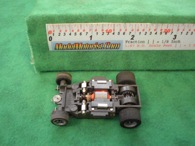Top view of Aurora AFX Speed Shifters Slot Car Chassis