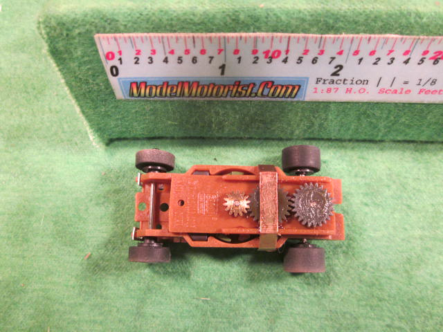 Top view of Auto World Thunderjet Ultra G Barn Find Brown