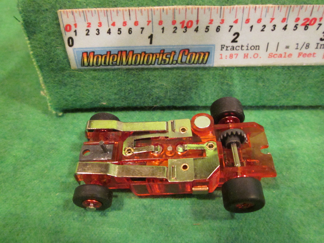 Bottom view of Auto World Thunderjet Ultra G Transparent Red