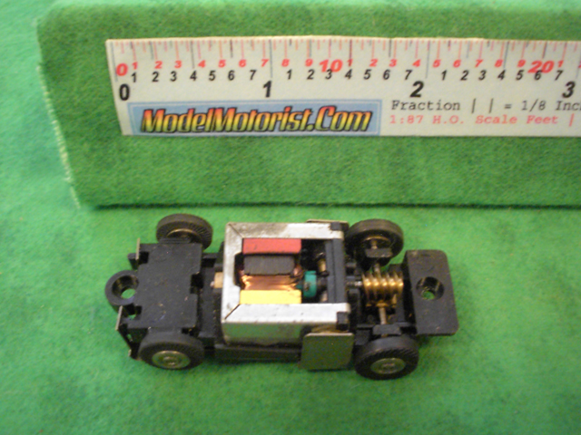 Top view of Bachmann HO Slot Car Chassis