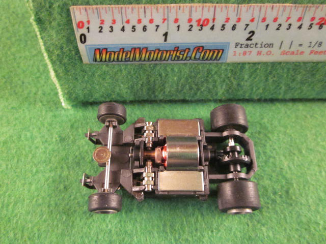 Top view of Darda HO Slot Car Chassis