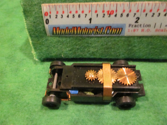 Top view of Dash T 2.0 HO Slot Car Chassis