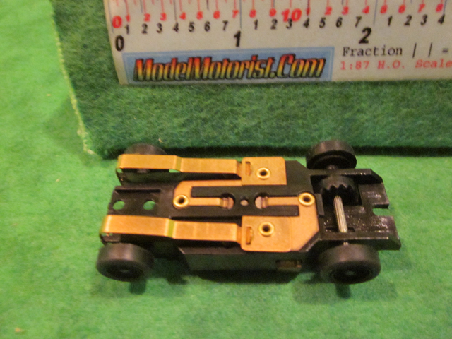 Bottom view of Dash T 2.0 HO Slot Car Chassis