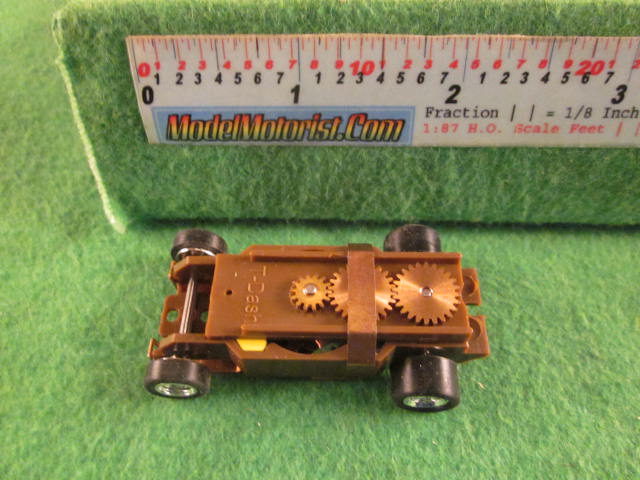 Top view of Dash Brown HO Slot Car Chassis