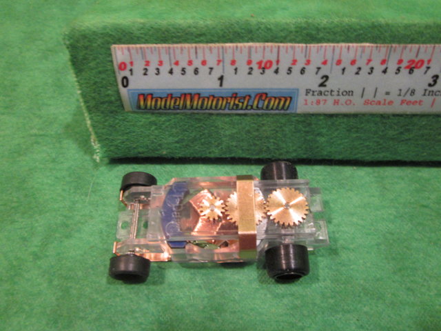 Top view of Dash Transparent HO Slot Car Chassis