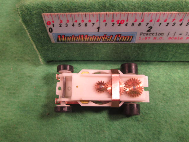 Top view of Dash Glow-In-The-Dark HO Slot Car Chassis