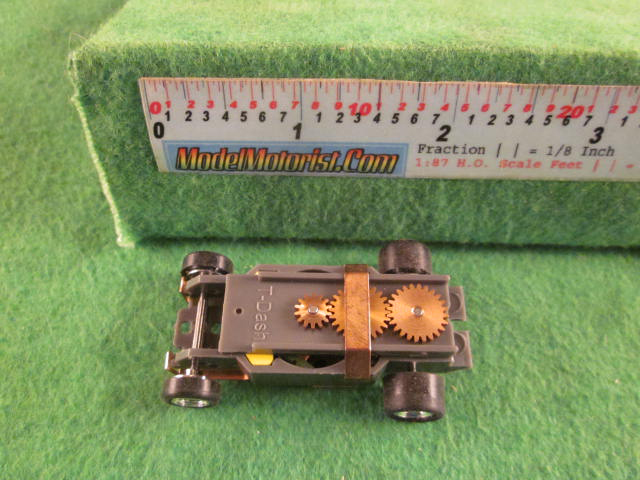 Top view of Dash Gray HO Slot Car Chassis