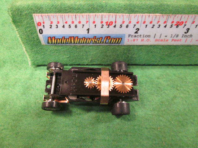 Top view of Dash Mondo Grip HO Slot Car Chassis