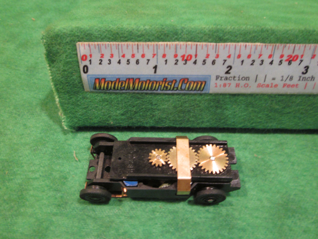 Top view of Dash T HO Slot Car Chassis