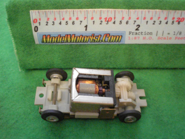 Top view of Eldon HO Slot Car Chassis
