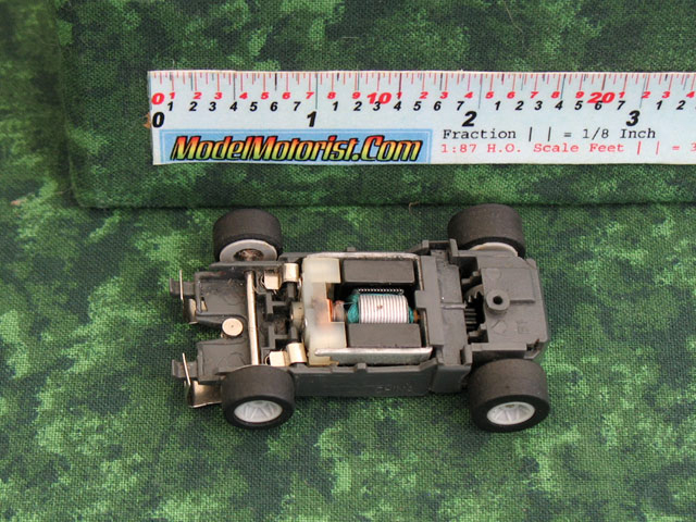 Top view of Empire MR1 Racing No Mount HO Slot Car Chassis