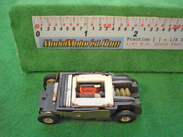 Top view of Faller HO Slot Car Chassis