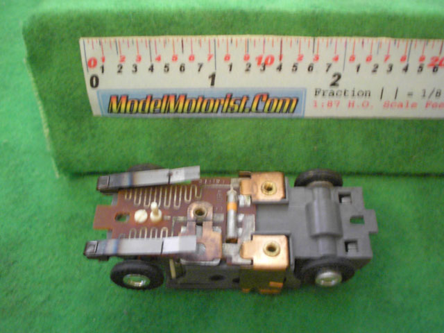Bottom view of Faller HO Slot Car Chassis