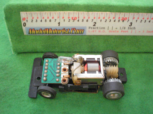 Top view of Ideal Jam HO Slotless Car Chassis