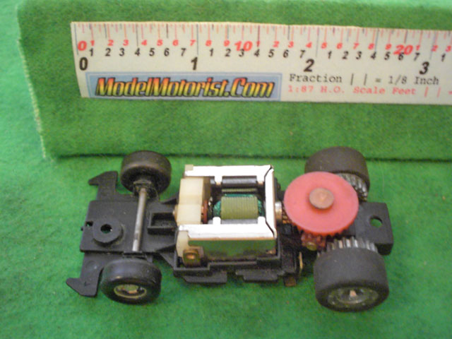 Top view of Ideal Passing A HO Slotless Car Chassis