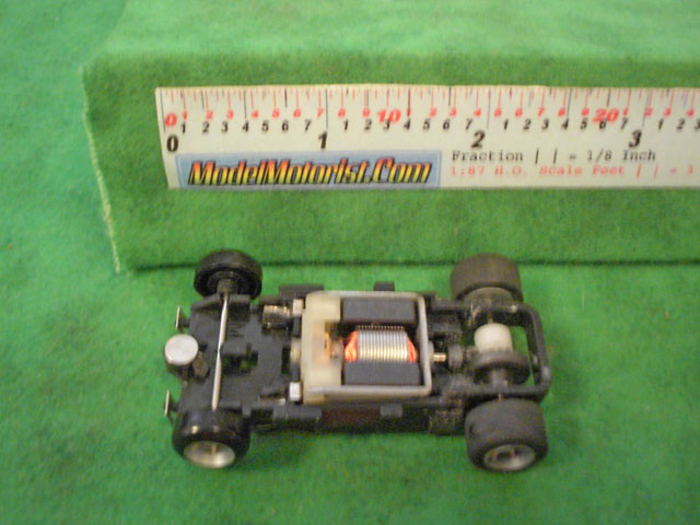 Top view of Ideal Total Control Racing HO Slot Car Chassis