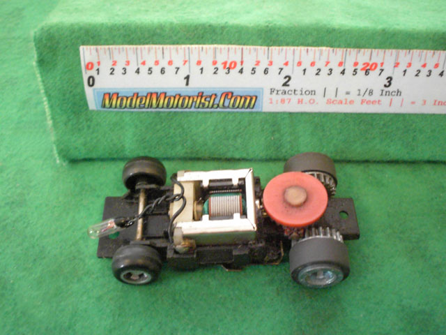 Top view of Ideal Passing MK2 A HO Slotless Car Chassis