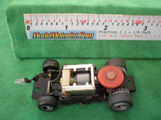 Top view of Ideal Passing MK2 B HO Slotless Car Chassis