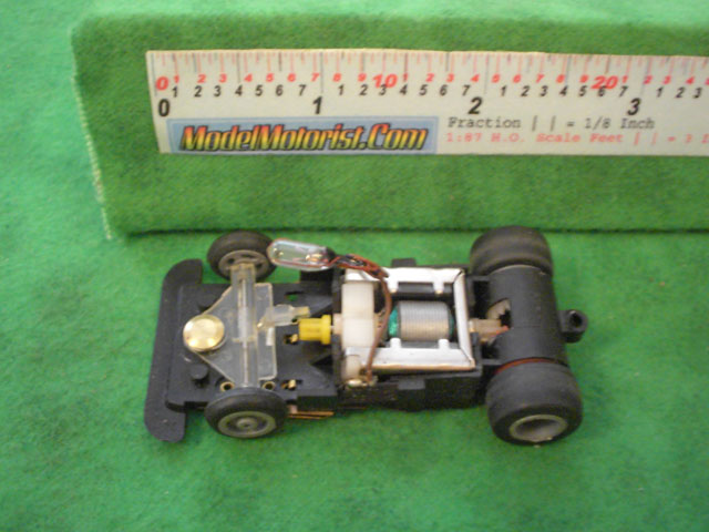 Top view of Ideal Passing MK3 A HO Slotless Car Chassis