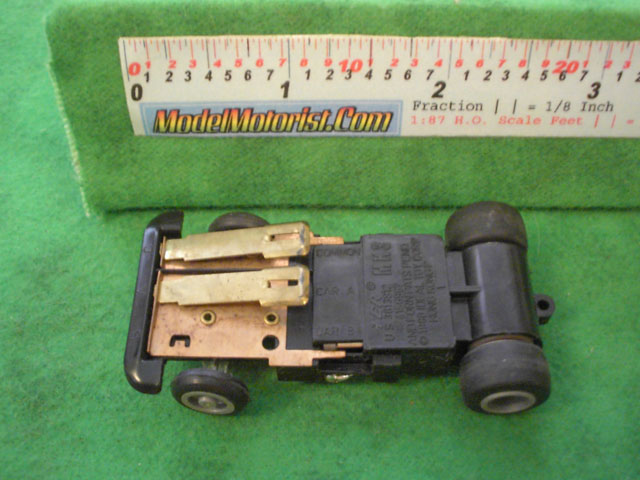 Bottom view of Ideal Passing MK3 A HO Slotless Car Chassis