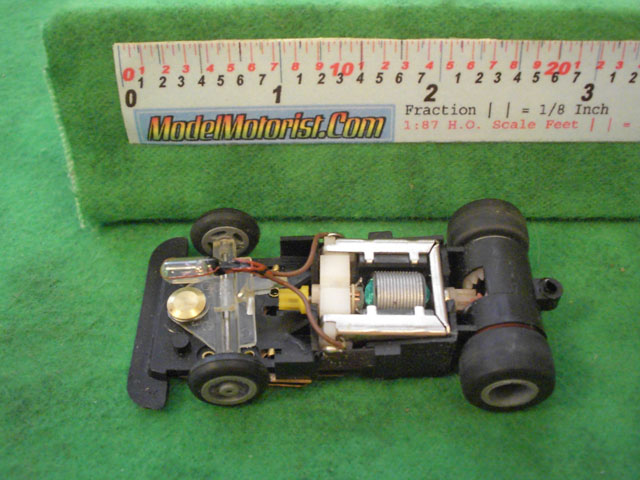 Top view of Ideal Passing MK3 B HO Slotless Car Chassis