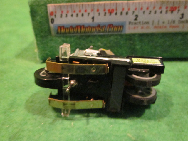 Top view of Ideal Bi-Directional Motorcycle HO Slot Car Chassis