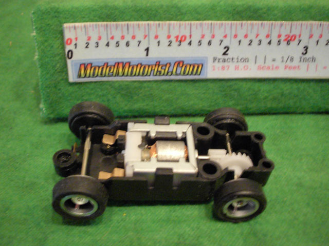 Top view of JJ Toys HO Slot Car Chassis