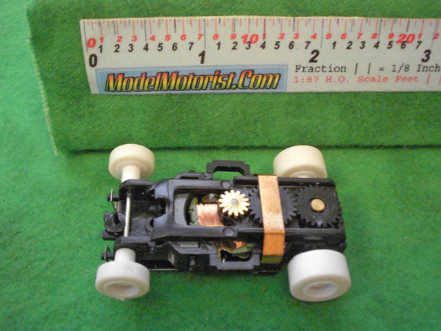 Top view of X-Traction HO Slot Car Chassis