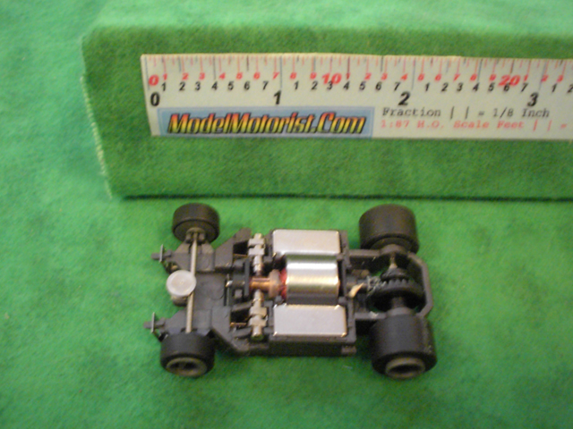 Top view of Life-Like M-Car HO Slot Car Chassis