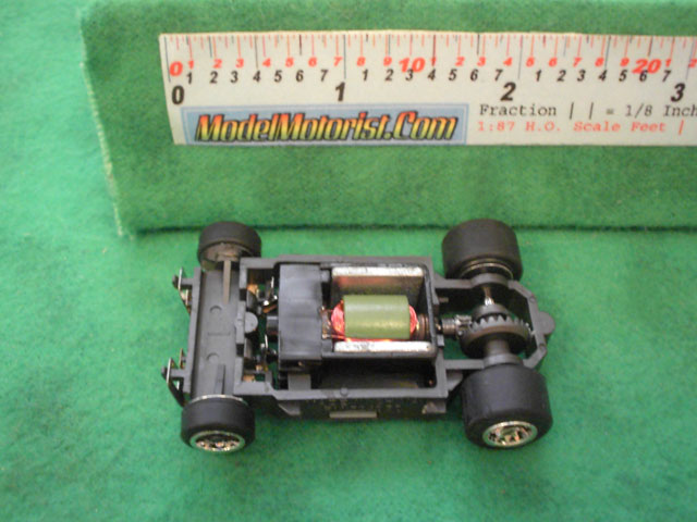 Top view of Life-Like Fast Tracker HO Slot Car Chassis