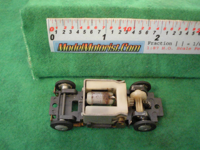 Top view of Lionel HO Slot Car Chassis (Gray)