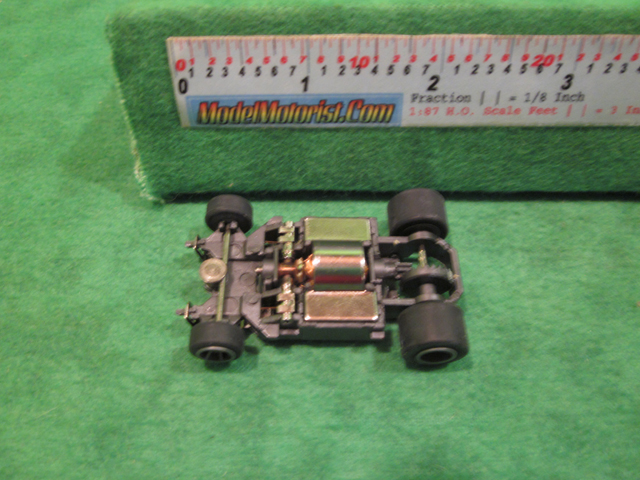 Top view of Life-Like Power Trackers M-Car HO Slot Car Chassis
