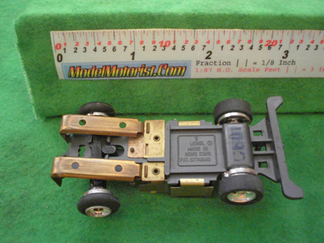 Bottom view of Lionel Power Passers B HO Slotless Car Chassis