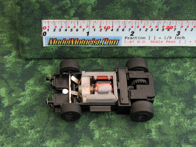 Top view of Marchon 90 MR1 Racing HO Slot Car Chassis