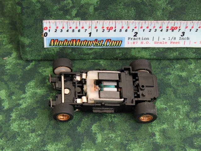 Top view of Marchon 92 MR1 Racing HO Slot Car Chassis
