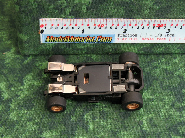 Bottom view of Marchon 92 MR1 Racing HO Slot Car Chassis