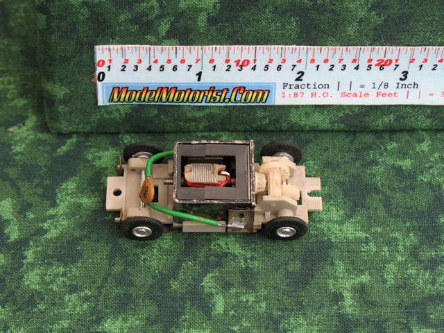 Top view of Marusan HO Slot Car Chassis